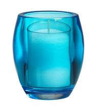Bolsius kaarshouder Relight inclusief vulling aqua