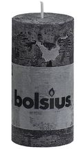 Bolsius stompkaars Rustiek antraciet 100/50 mm