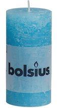 Bolsius stompkaars Rustiek aqua 100/50 mm