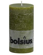 Bolsius stompkaars Rustiek olijfgroen 130/68 mm
