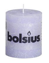 Bolsius stompkaars Rustiek pastel paars 80/68 mm