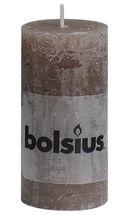 Bolsius stompkaars Rustiek taupe 100/50 mm