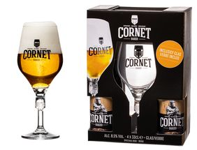 Cornet Oaked Bierpakket Kadokist 4 x 33 cl + Glas
