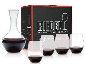 Riedel Syrah / Shiraz wijnglazen O Wine + decanteer - 4 stuks