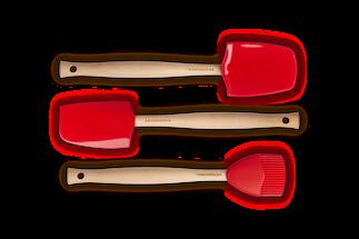 Le Creuset Spatel Set 3-Delig Kersenrood