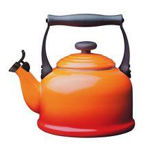 Le Creuset fluitketel Tradition oranje-rood