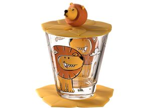 Leonardo Drinkbekerset Bambini Leeuw 3-Delig 215 ml