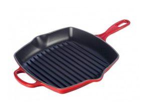 Le Creuset grillpan vierkant kersenrood 26 x 26 cm