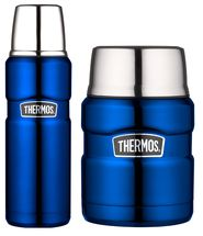 Thermos Thermosfles + Voedseldrager King Blauw