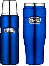 Thermos Thermosfles + Thermosbeker King Metalic Blauw