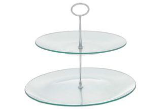 etagere-2-lagen-glas-zilver