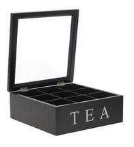 EH Teebox schwarz - 9 Fächer