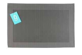 Yong Placemat Rechthoek Grijs 30 x 45 cm