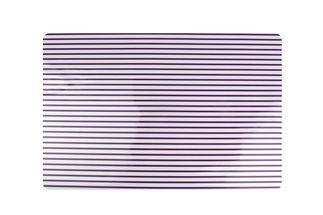 Yong Placemat Rechthoek Paars Stripes 45 x 30 cm