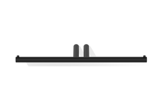 Decor Walther Mikado TPH2 dubbele toiletrolhouder - mat zwart