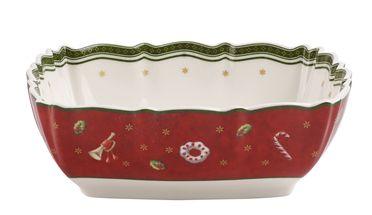 Villeroy & Boch Toy's Delight serveerschaal 16x16cm - rood