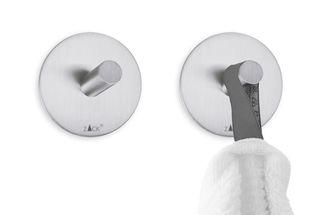 Zack Duplo handdoekhaakje rond - mat rvs - 2 stuks