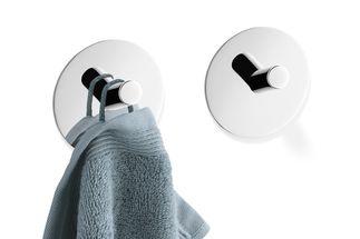Zack Duplo handdoekhaak rond - spiegelglans - 2 stuks