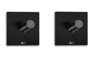 Zack Duplo handdoekhaakje vierkant - zwart - 2 stuks