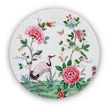 Pip Studio Blushing Birds onderbord ø 32cm - wit