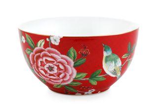 Pip Studio Blushing Birds bowl ø 15cm - rood