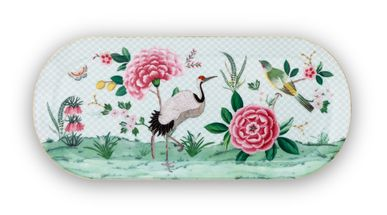 Pip Studio Blushing Birds cakeschaal 33x15cm - wit