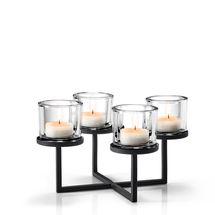 Blomus Nero theelichthouder rond - 4 kaarsen