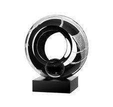Kosta Boda Meditation sculptuur - zwart/transparant