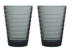 Iittala Aino Aalto glas 33cl - donkergrijs - 2 stuks