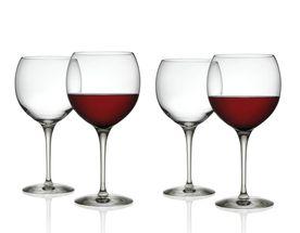 Alessi Rode Wijnglas Mami door Stefano Giovannoni - 4 Stuks