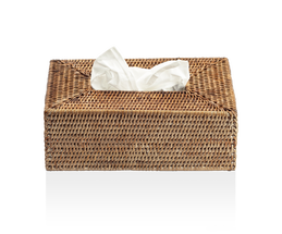 Decor Walther Basker tissue box - donker rattan