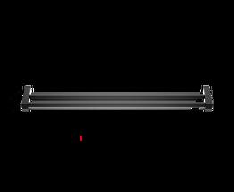 Decor Walther Corner handdoekenrek 80cm - dubbel - mat zwart