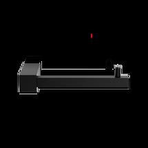 Decor Walther Corner toiletrolhouder TPHI - mat zwart