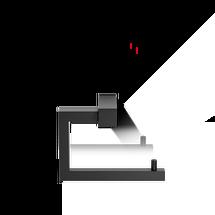 Decor Walther Corner toiletrolhouder - mat zwart