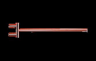 Decor Walther Mikado handdoekstang zwenkbaar - rose goud