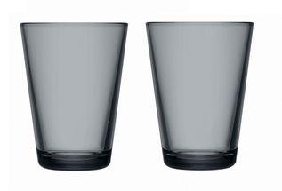 Iittala Kartio glas 40cl donkergrijs - 2 stuks
