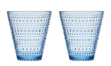 Iittala Kastehelmi glas 30cl aqua - 2 stuks