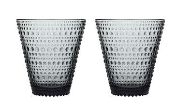 Iittala Kastehelmi glas 30cl grijs - 2 stuks