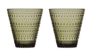 Iittala Kastehelmi glas 30cl mos groen - 2 stuks
