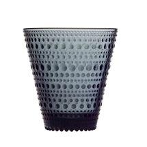 Iittala Kastehelmi glas 30cl - donkergrijs - 2 stuks