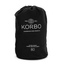 Korbo wasmandzak 80 liter - zwart