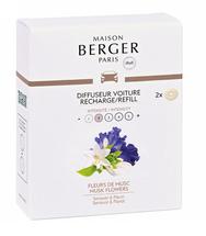 Maison Berger Autoparfum Navulling Senso Musk Flowers