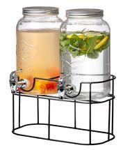 Sareva Drank Dispenser met Houder 2 x 3 Liter