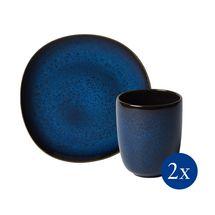 Villeroy & Boch Lave serviesset - blauw