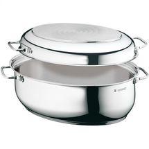 WMF braadpan ovaal 8,5 liter met vleesthermometer