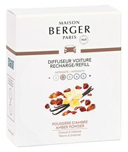 Maison Berger Autoparfum Navulling Amber Powder - 2 Stuks