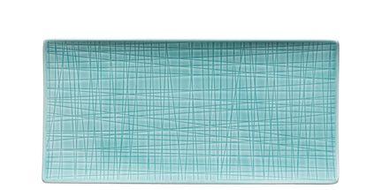 Rosenthal Mesh serveerschaal 26x13cm - aqua