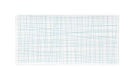 Rosenthal Mesh serveerschaal 26x13cm - line aqua