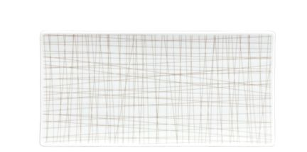 Rosenthal Mesh serveerschaal 26x13cm - line walnut