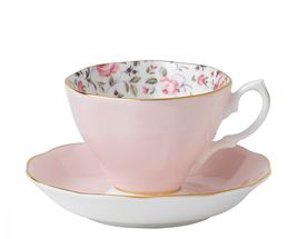 Royal Albert Cheeky Pink Theekop en schotel - rose confettie
